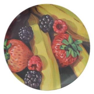 Fruits abondants assiette