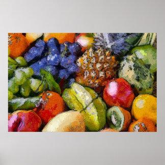 FRUITS DIVERS VARIOUS FRUITS VERSCHIEDENE FRÜCHT AFFICHE