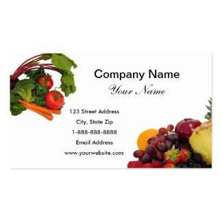 L gumes cartes de visite l gumes mod les carte de visite - Fruits et legumes de a a z ...