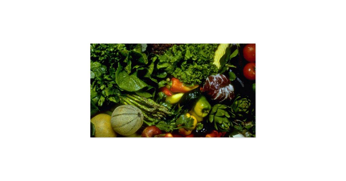 Fruits et l gumes carte de visite standard zazzle - Fruits et legumes de a a z ...
