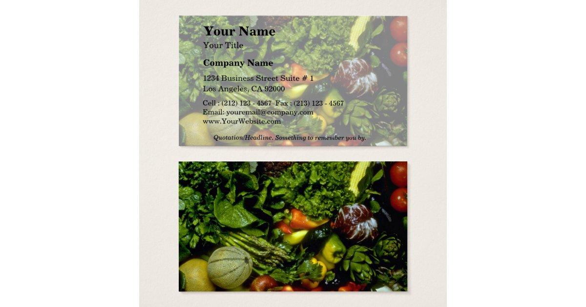 Fruits et l gumes cartes de visite zazzle - Fruits et legumes de a a z ...