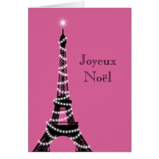 Fuchsia de carte de Tour Eiffel de vacances
