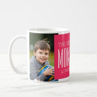 Fuchsia fait sur commande de tasse du jour de mère