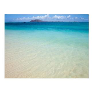 Fuerteventura, carte postale de plage de drapeau