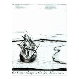 Fuite Angleterre du Roi Charles II en 1651 Carte Postale