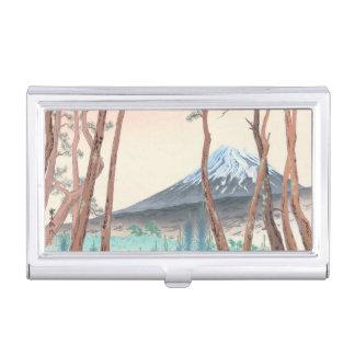 Fuji de la forêt de pin à l'art de Japonais de Porte-cartes De Visite