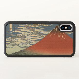 Fuji rouge, vent du sud, ciel clair Hokusai