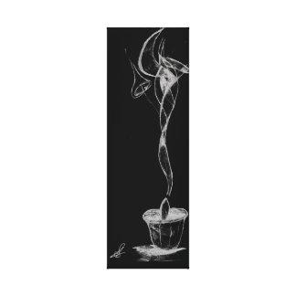 Fumée abstraite de bougie toiles
