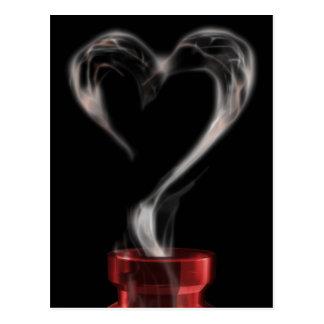 fumée de philtre d'amour carte postale
