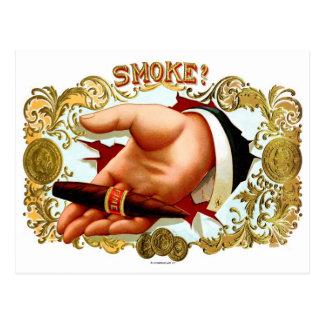 Fumée de rétro de kitsch art vintage de boîte à carte postale