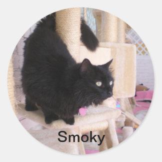Fumeux - RÈGLE de chats noirs ! Autocollant