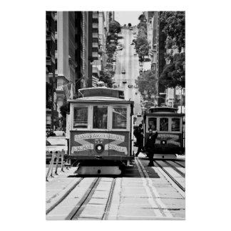 FUNICULAIRE À SAN FRANCISCO POSTER