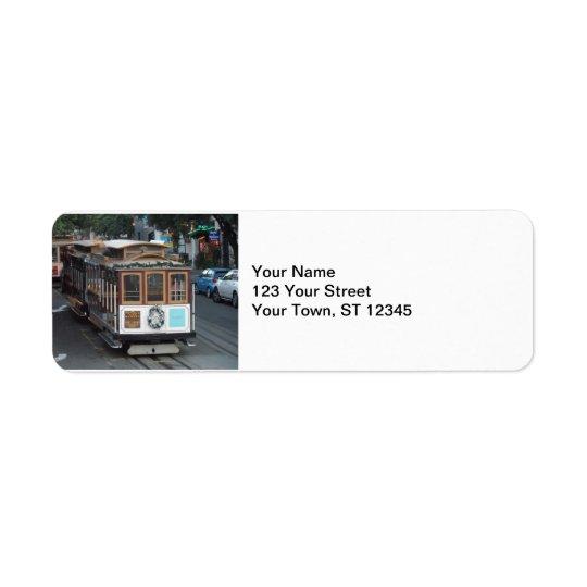 Funiculaire de San Francisco Étiquette D'adresse Retour
