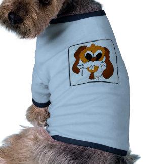 Funny dog t-shirt ringer pour chien
