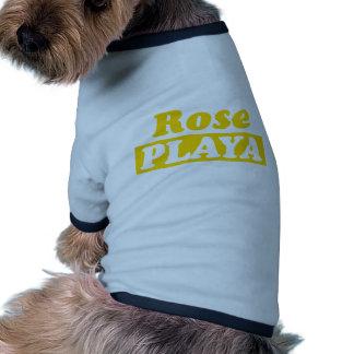 Funy Playa rose d or Tee-shirt Pour Toutou