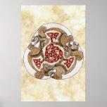 Furet celtique Triskel Posters