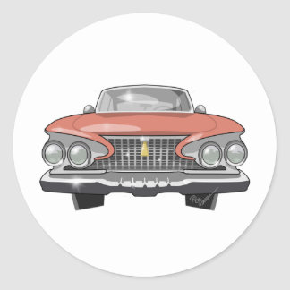 Fureur 1961 de Plymouth Sticker Rond