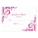 Fuschia et cartes d'allocation des places de maria cartes de visite professionnelles