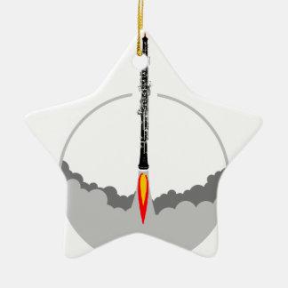 fusée de hautbois ornement étoile en céramique