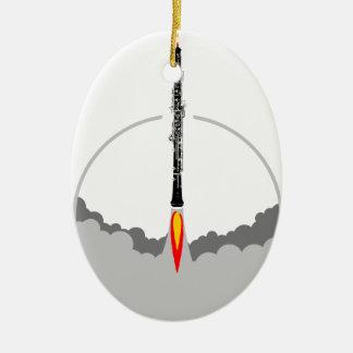 fusée de hautbois ornement ovale en céramique