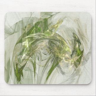 Fusée verte tapis de souris