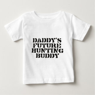 Futur ami de la chasse du papa t-shirt pour bébé