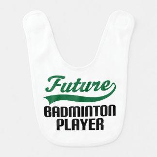 Futur bavoir de bébé de joueur de badminton