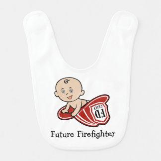 Futur bavoir de bébé de sapeur-pompier