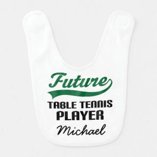 Futur bavoir de bébé personnalisé de ping-pong par