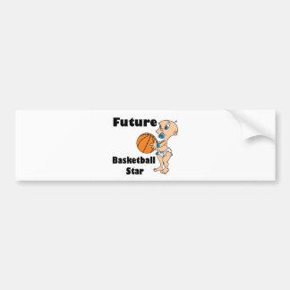 futur bébé de star du basket-ball autocollant pour voiture