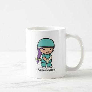 Futur chirurgien - fille mug blanc