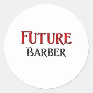 Futur coiffeur autocollants ronds