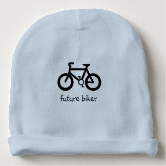 futur cycliste bonnet de bébé