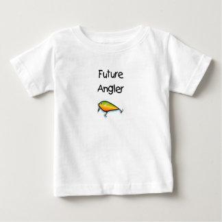 Futur pêcheur à la ligne t-shirt pour bébé