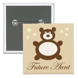 Futur Pin de tante baby shower Badge Avec Épingle