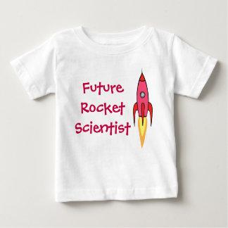 Futur rose Rocketship de scientifique de Rocket T-shirt Pour Bébé