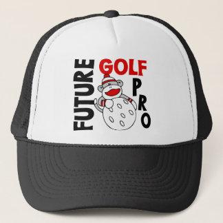 Futur singe de chaussette de professionnel de golf casquette
