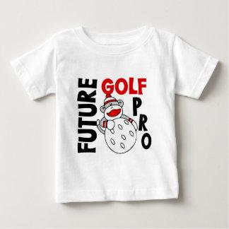 Futur singe de chaussette de professionnel de golf t-shirt pour bébé