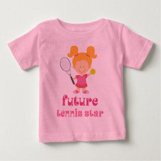 Futur star du tennis (joueur) t-shirt pour bébé