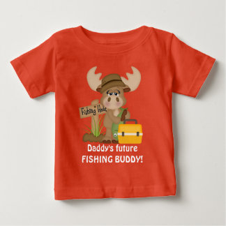 Futur T-shirt de bébé d'ami de la pêche du papa