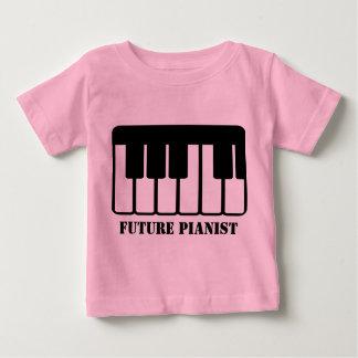 Futur T-shirt de bébé de pianiste