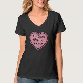 Futur T-shirt de coeur de jeune mariée