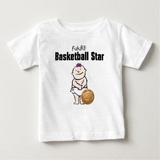 Futur T-shirts de bébé de star du basket-ball
