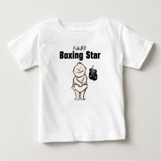 Futur T-shirts de bébé d'étoile de boxe