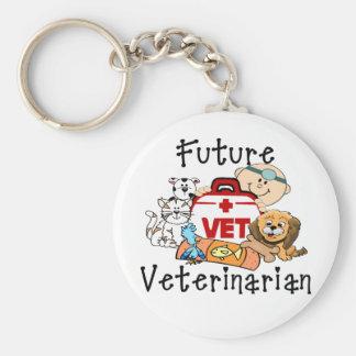 Futur vétérinaire porte-clé rond