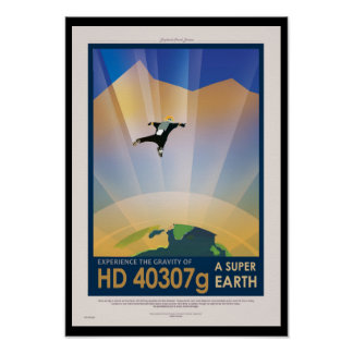 Future affiche de Sci fi de voyage de la NASA - la Poster