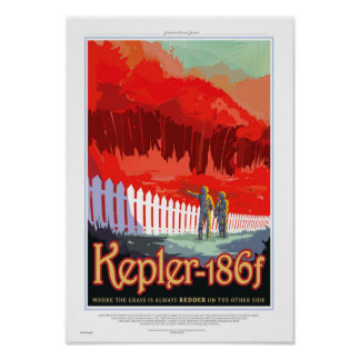 Future affiche de Sci fi de voyage de la NASA - Poster