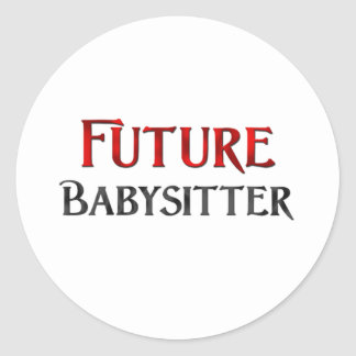 Future babysitter sticker rond
