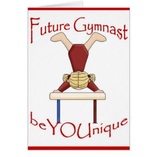 Future carte de voeux de gymnaste par BeYOUnique