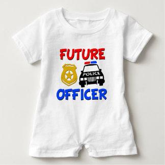 Future chemise de bébé de policier barboteuse
